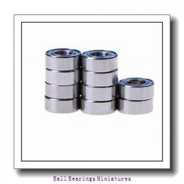 3mm x 8mm x 3mm  ZEN sf693-zen Ball Bearings Miniatures