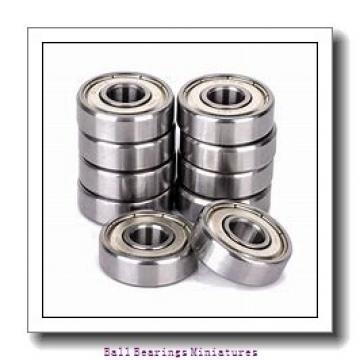 2mm x 7mm x 3mm  ZEN smf72-2z-zen Ball Bearings Miniatures