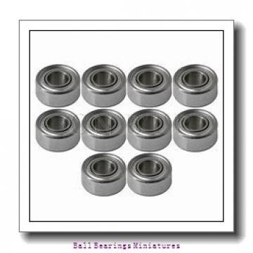 3mm x 8mm x 3mm  ZEN smr83-2z-zen Ball Bearings Miniatures