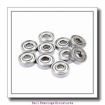2.5mm x 7mm x 3mm  ZEN sx2.5-2z-zen Ball Bearings Miniatures