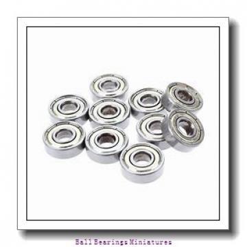 2mm x 6mm x 3mm  ZEN 692-2z-zen Ball Bearings Miniatures