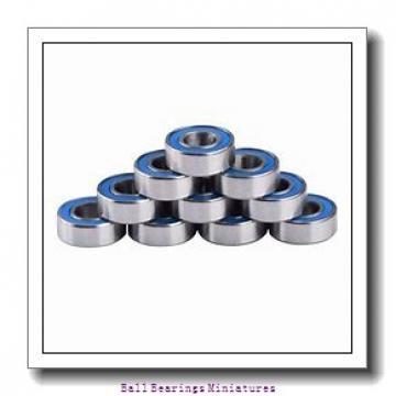 2mm x 6mm x 3mm  ZEN s692-2z-zen Ball Bearings Miniatures